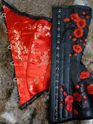 leather underbust lining