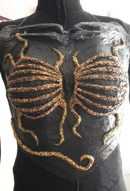moulded breast plate costume piece