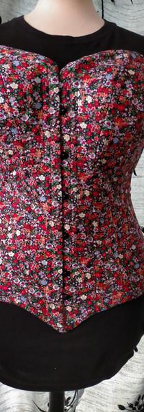 Overbust longline corset