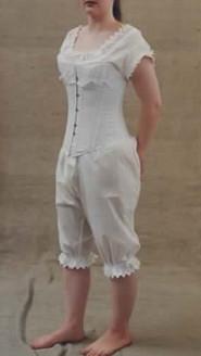replica 19th century corset and combinations