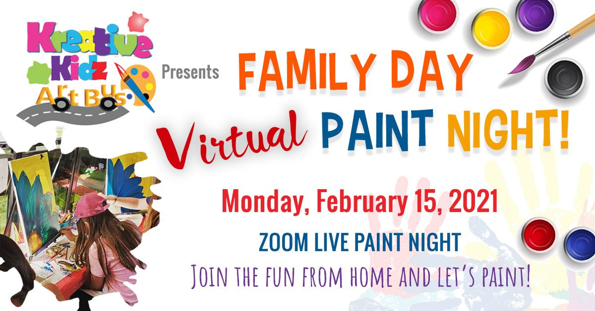 Family Day - Virtual Paint Night