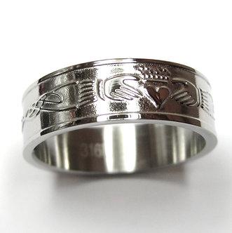 SSR7006 Stainless Steel Irish Claddagh Tribal Ring