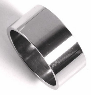 SSR32 - 10mm High Polish Unisex Stainless Steel Band Ring