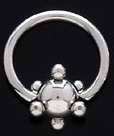 BJ69 Stainless Steel Sphere Captive Ring 12g - 20mm