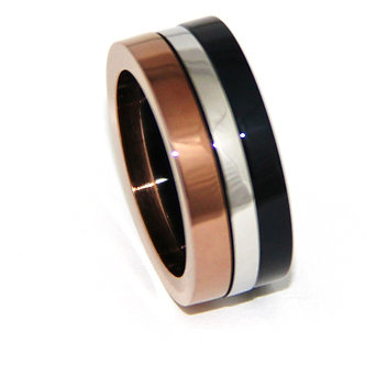 SSR1026 Copper Black Stainless Steel Ring