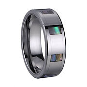 Abalone Tungsten Ring