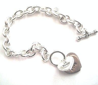 BR50 True Love Forever Heart Charms Bracelet