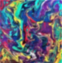 Enlightenment - Abstract Fluid Acryic Art - Mixed Media