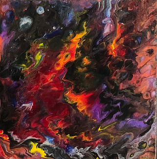 Spirituality - Abstract Fluid Acryic Art - Mixed Media