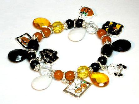 BR42 Halloween Charms Beads Stretch Bracelet