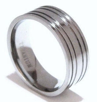SSR22 - 8mm High Polish Solid Titanium Ring