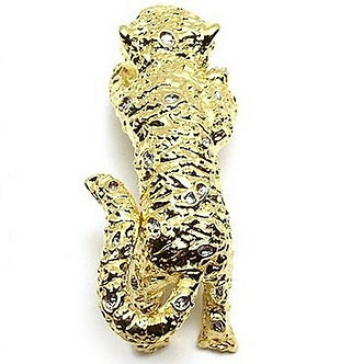 BP70 Gold Tiger Cub Wild Cat Brooch