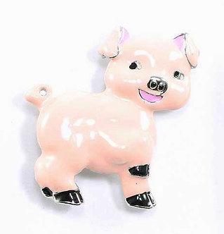 BP20 Adorable Pink Enamel Baby Pig Brooch