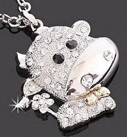NP87 Adorable CZ Paved Cow Sweater Pendant Necklace