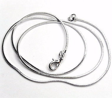 NP151 Solid 925 Stamped Sterling Silver Snake Chain 1.5mm