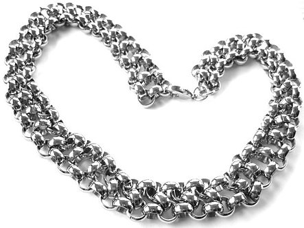 SSN704 - 20mm Shiny Multi Links Chunky Stainless Steel Chain Necklace
