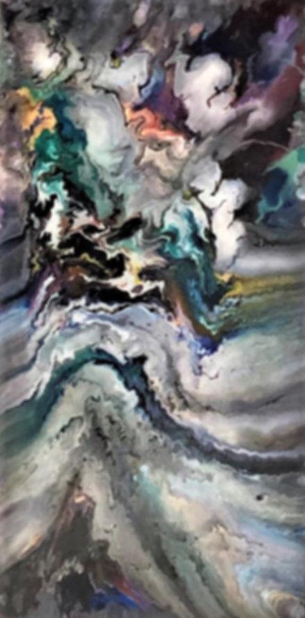 Thoughtfulness - Abstract Fluid Acryic Art - Mixed Media