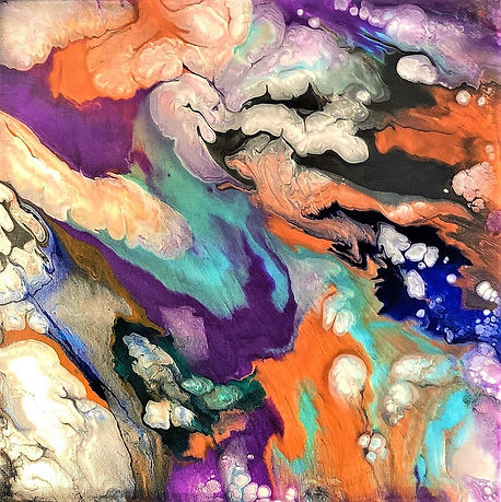 Morality - Abstract Fluid Acryic Art - Mixed Media