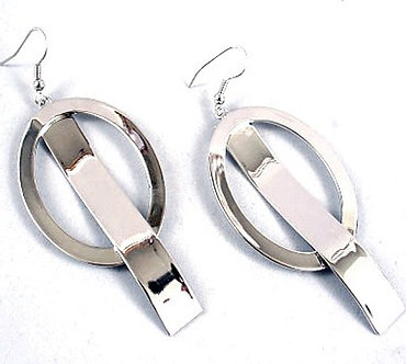 EA08 Chunky Stainless Steel Abstract Shaped Dangle Earrings