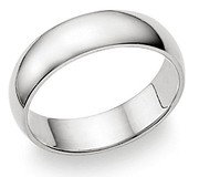 SSR29 - 6mm Mirror Finish Stainless Steel Ring