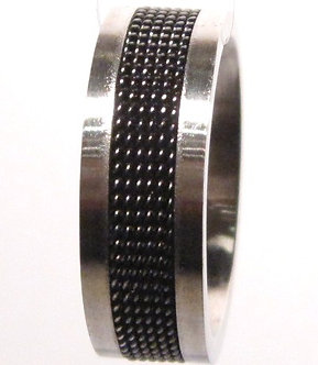 SSR1757 Black Mesh Stainless Steel Ring