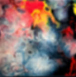 Survival - Abstract Fluid Acryic Art - Mixed Media