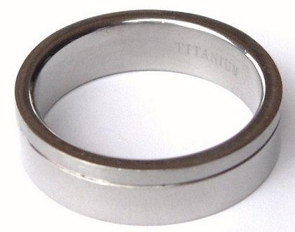 SSR19 - 6mm Shiny / Matte Finish Titanium Ring