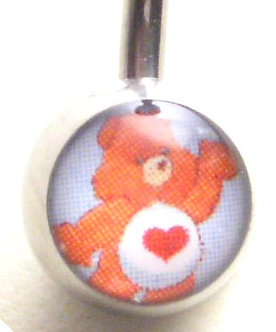 BJ116 Tender Heart Carebear Cartoon Character Picture Body Jewelry