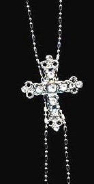 NP79 Crystal Cross Y Chain Pendant