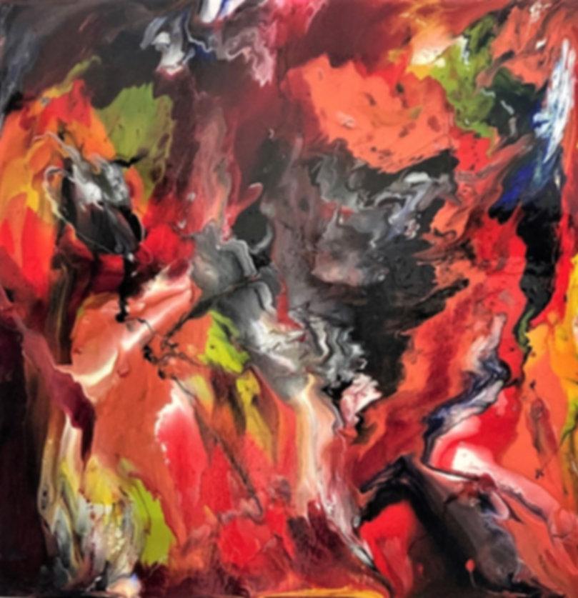 Abstract Fluid Acryic Art - Mixed Media