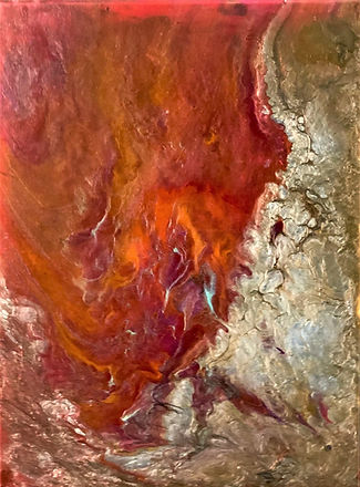 Innocence - Abstract Fluid Acryic Art - Mixed Media