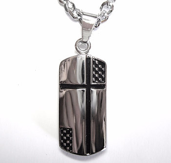 NP51 Stainless Steel Cross Pendant Necklace