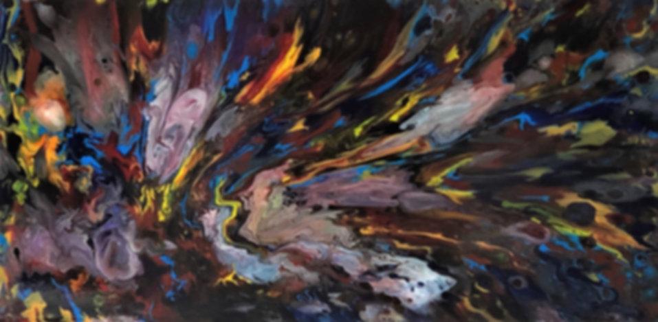 Dignity - Abstract Fluid Acryic Art - Mixed Media