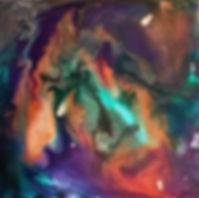 Esteem - Abstract Fluid Acryic Art - Mixed Media