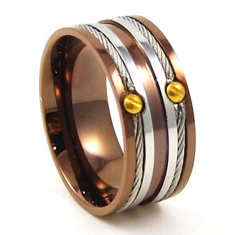 SSR4720 - 10mm Wire Cable Copper Stainless Steel Ring