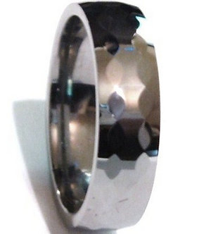 TU3048 - 6mm High Polish Multi Faceted Tungsten Carbide Ring
