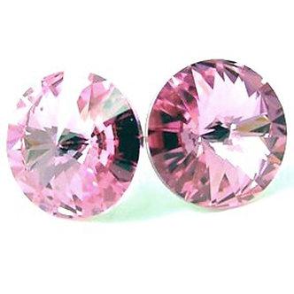 EA320 Pink Sparkling Swarovski Crystal Post Earrings