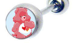BJ112 Love A Lot Cartoon Character Picture Body Jewelry