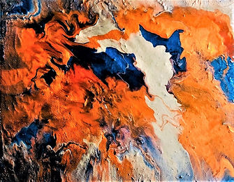 Recognition - Abstract Fluid Acryic Art - Mixed Media