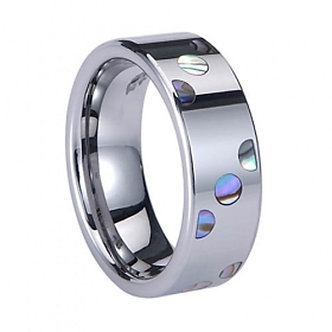 TU6000 Exquisite Abalone Shell Inlay Tungsten Carbide Ring