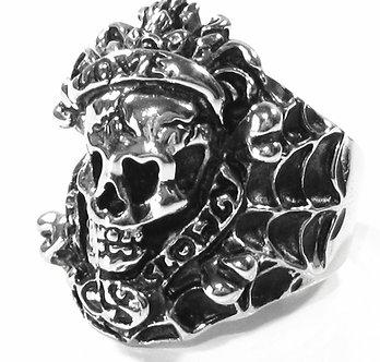 SSR7000 Love Kills Slowly Skull Bikers Chunky Stainless Steel Ring
