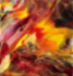 On Fire - Abstract Fluid Acryic Art - Mixed Media