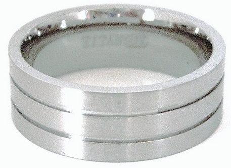 SSR23 - 8mm Satin Finish Titanium Ring