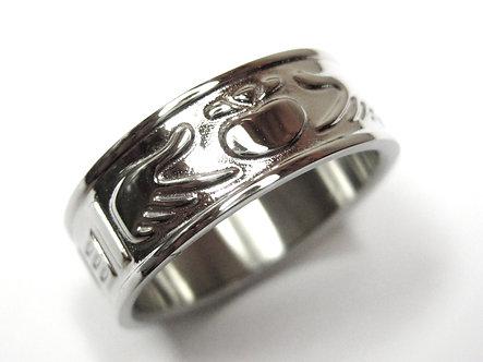 SSR7005 Stainless Steel Irish Claddagh Wedding Ring