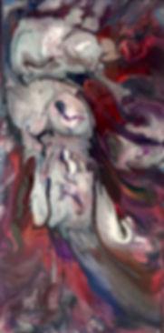 Strength- Abstract Fluid Acryic Art - Mixed Media