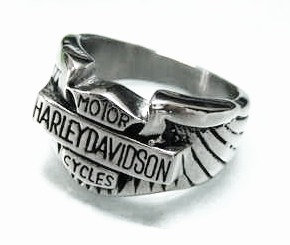 SSR4590 Chunky Stainless Steel Bikers Ring