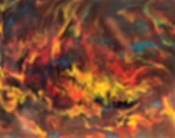 Miracle - Abstract Fluid Acryic Art - Mixed Media
