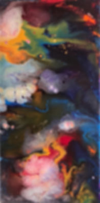Optimism- Abstract Fluid Acryic Art - Mixed Media