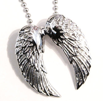 SSP7258 Stainless Steel Angel Wings Ball Chain Pendant