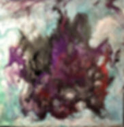 Togetherness - Abstract Fluid Acryic Art - Mixed Media